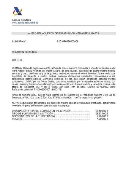 11 subastas de casas y pisos de hacienda en terrassa barcelona alertasubastas - Subastas de pisos en barcelona ...